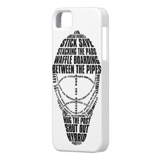 Hockey Goalie Mask Typography iPhone Case iPhone 5 Covers
