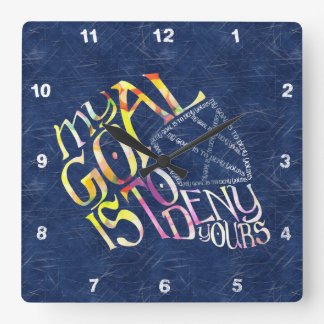 Hockey Goalie My Goal Typography Clock