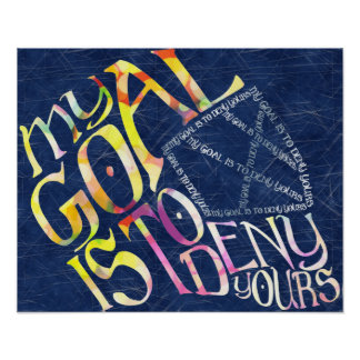 Hockey Goalie My Goal Typography Poster
