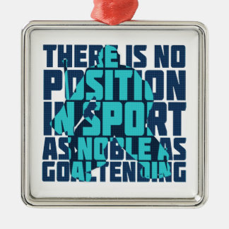Hockey Goalie Noble Quote Christmas Ornament