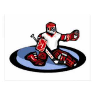 Hockey Goalie Postcard