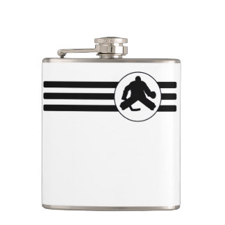 Hockey Goalie Stripes Flask