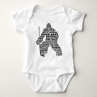 Hockey Goalie Text Art Baby Bodysuit