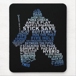 Hockey Goalie Text Mousepad