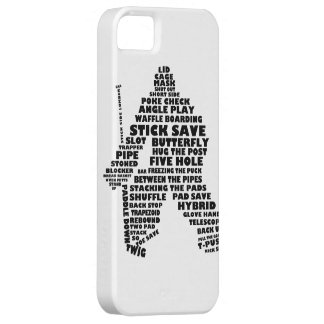 Hockey Goalie Typography Cell Phone Case iPhone 5 Case