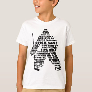 Hockey Goalie Word Art Children's T-Shirt