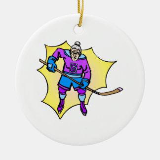 Hockey Grandma Christmas Ornament