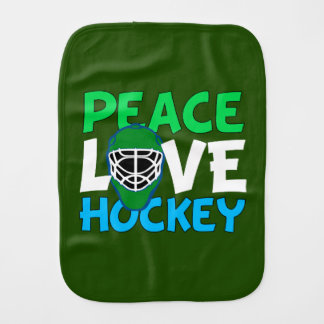 Hockey Green Burp Cloth