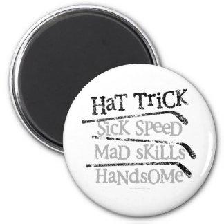 Hockey Hat Trick 6 Cm Round Magnet