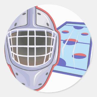 Hockey Helmets Round Sticker
