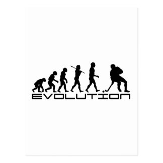 Hockey Ice Hockey Sport Evolution Art Postcard