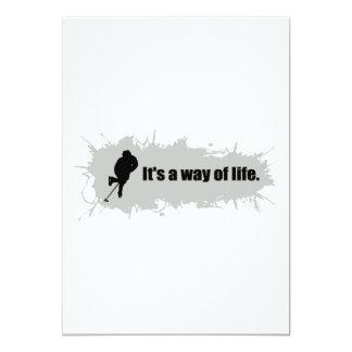 Hockey is a Way of Life 13 Cm X 18 Cm Invitation Card