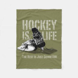 Hockey Is Life Fleece Blanket