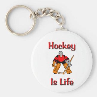 Hockey Is Life Basic Round Button Key Ring