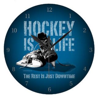 Hockey Is Life Large Clock