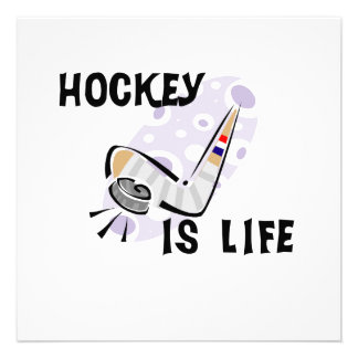 Hockey Is Life Puck and Stick T-shirts and Gifts Custom Invite