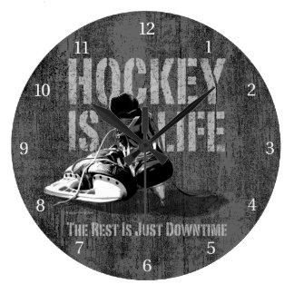 Hockey Is Life Wallclock