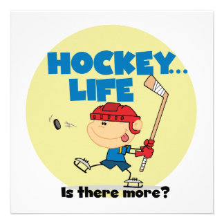 Hockey is There More T-shirts and Gifts Custom Invites