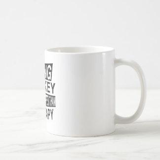 HOCKEY It Is Cheaper Than Therapy Basic White Mug
