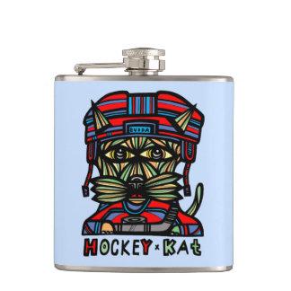 """Hockey Kat"" BuddaKats Flask"