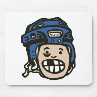 Hockey Kid Blue Mouse Mat