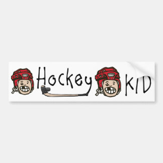 Hockey Kid Red Bumper Sticker