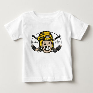 Hockey Kid Yellow Baby T-Shirt
