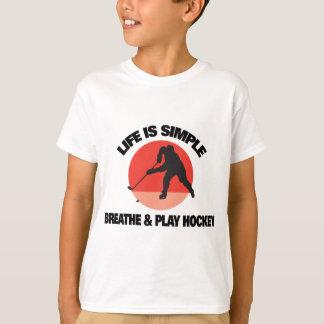 Hockey Life Is Simple Tee Shirt
