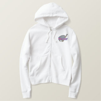 Hockey Logo Embroidered Hoodie