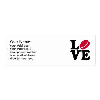 Hockey love business card templates