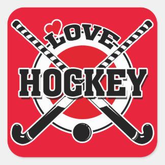 Hockey - Love Hockey Square Sticker