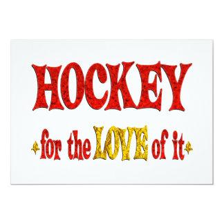 """Hockey Love 5"""" X 7"""" Invitation Card"""