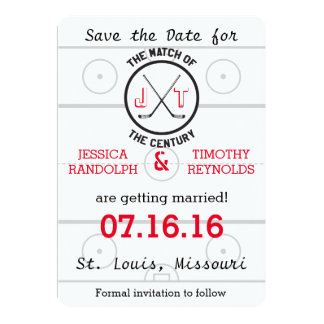 Hockey Love Save the Date Card