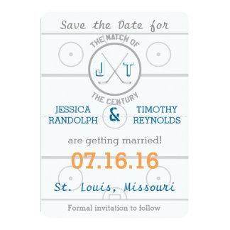 Hockey Love Save the Date Card