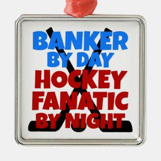 Hockey Lover Banker Christmas Ornament