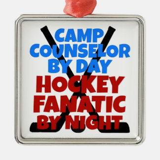 Hockey Lover Camp Counselor Christmas Ornament