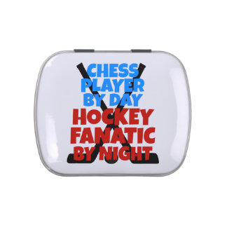Hockey Lover Chess Player Jelly Belly Tin
