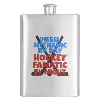 Hockey Lover Diesel Mechanic Hip Flask
