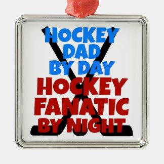 Hockey Lover Hockey Dad Christmas Ornament