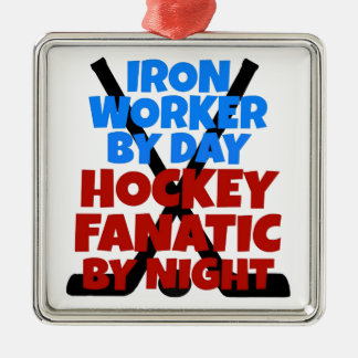 Hockey Lover Iron Worker Christmas Ornament