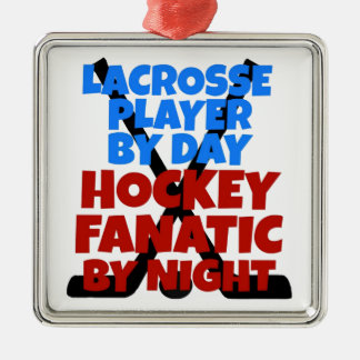 Hockey Lover Lacrosse Player Christmas Ornament