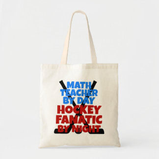 Hockey Lover Math Teacher Budget Tote Bag