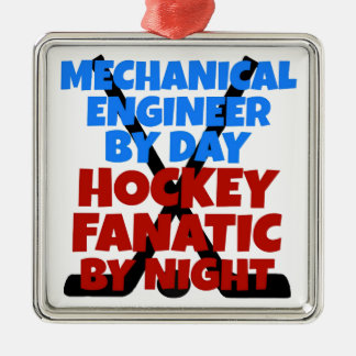Hockey Lover Mechanical Engineer Silver-Colored Square Decoration