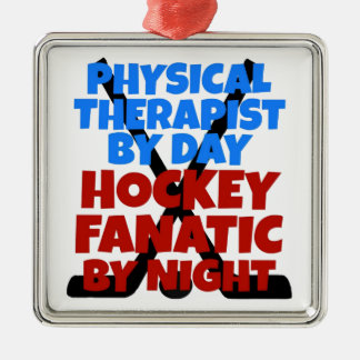 Hockey Lover Physical Therapist Christmas Ornament