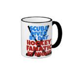 Hockey Lover Scuba Diver Coffee Mugs