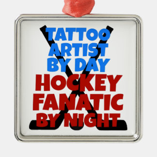 Hockey Lover Tattoo Artist Christmas Ornament