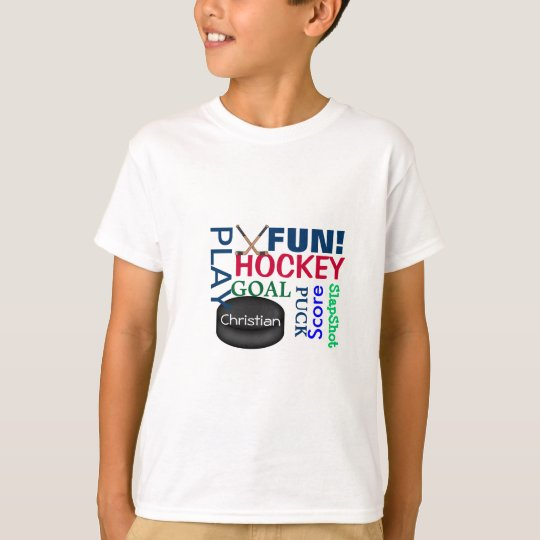 Hockey LOVER'S GIFT Tshirt Worded Kids SHIRT
