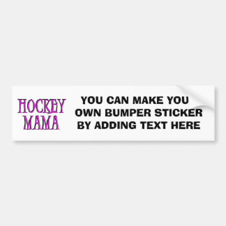 Hockey Mama Hot Pink T-shirts and Gifts Bumper Sticker