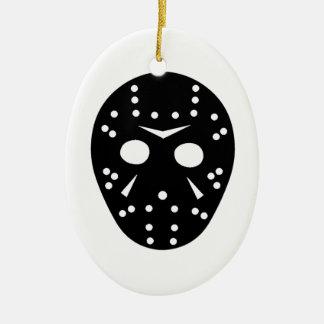 Hockey mask ceramic oval decoration
