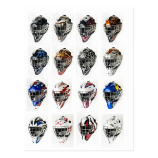 Hockey Masks Postcard